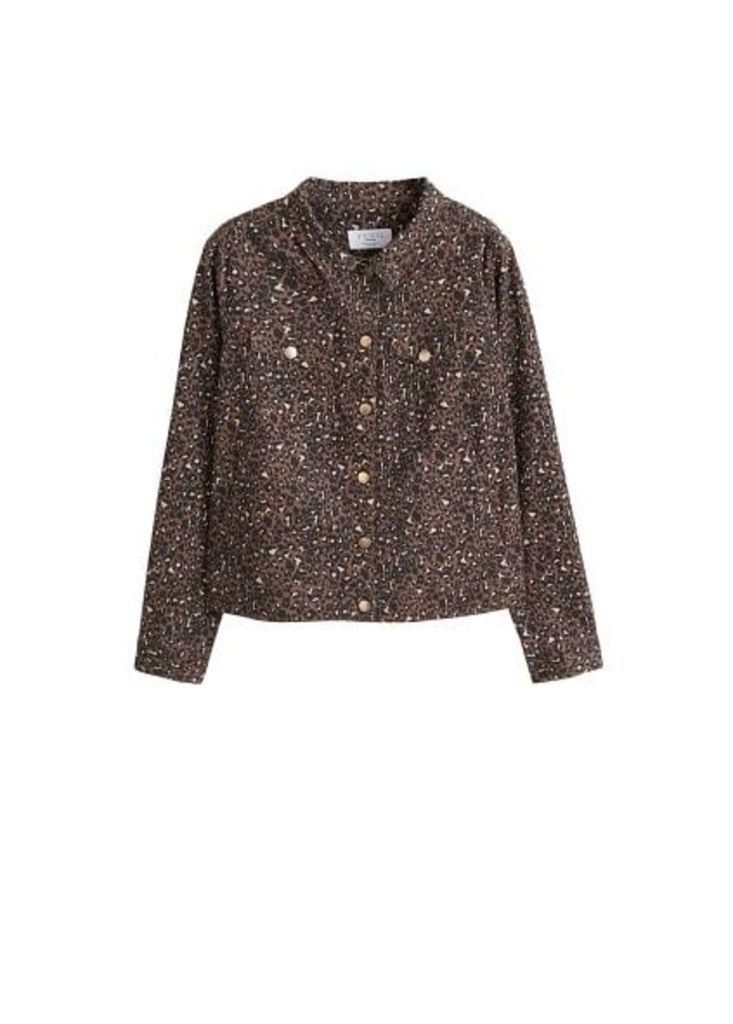 Animal print cotton jacket