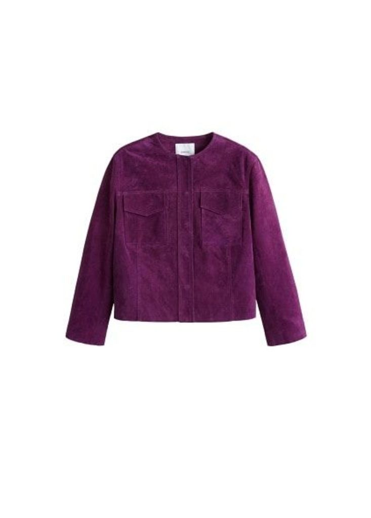 Lapels leather jacket