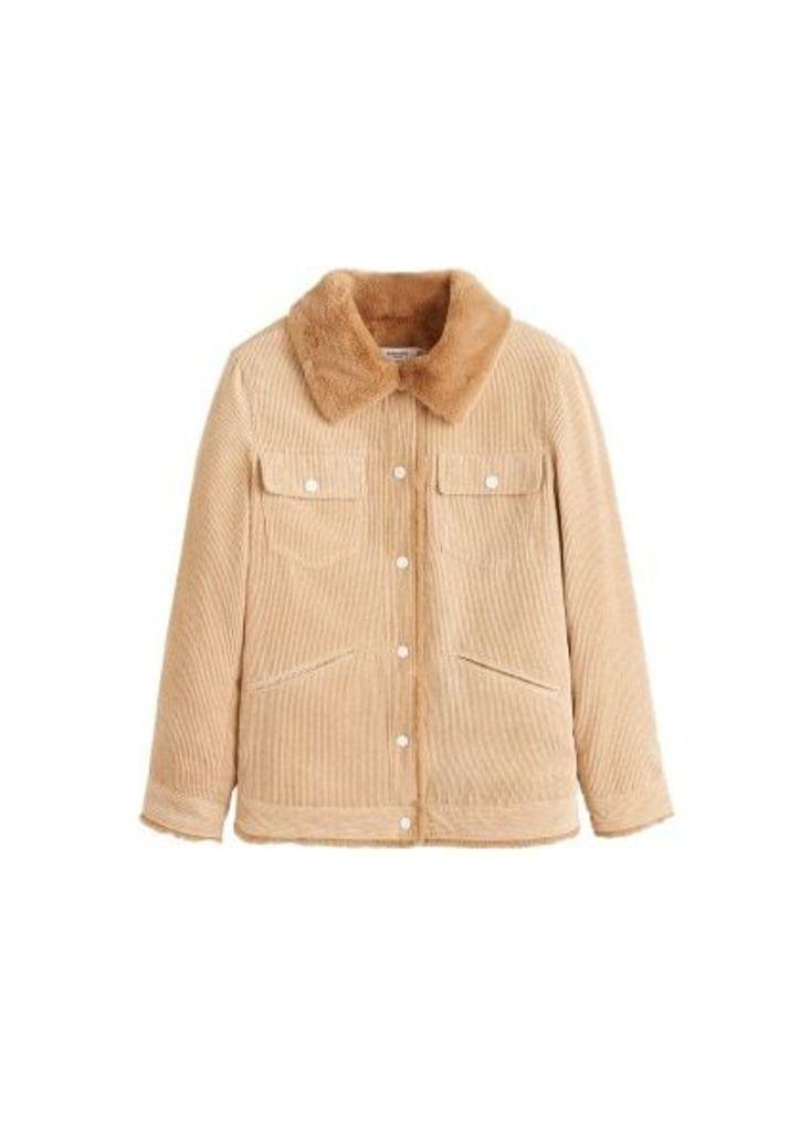 Fur corduroy jacket