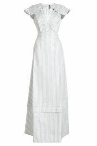 CALVIN KLEIN 205W39NYC Striped Dress in Silk and Cotton