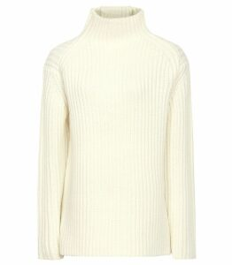 Reiss Sonia - Chunky Ribbed Jumper in Off White, Womens, Size XXL