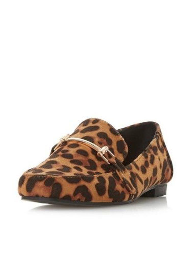 Womens *Head Over Heels by Dune Leopard 'Giesella' Flat Shoes- Leopard, Leopard