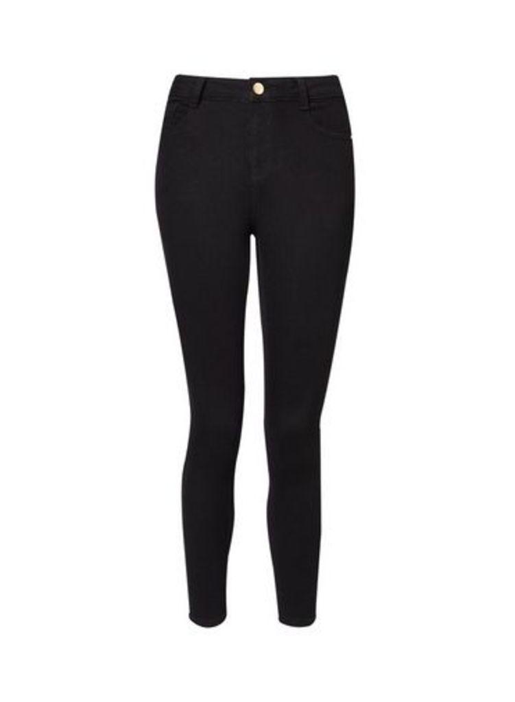 Womens Petite Black Shaping Jeans- Black, Black