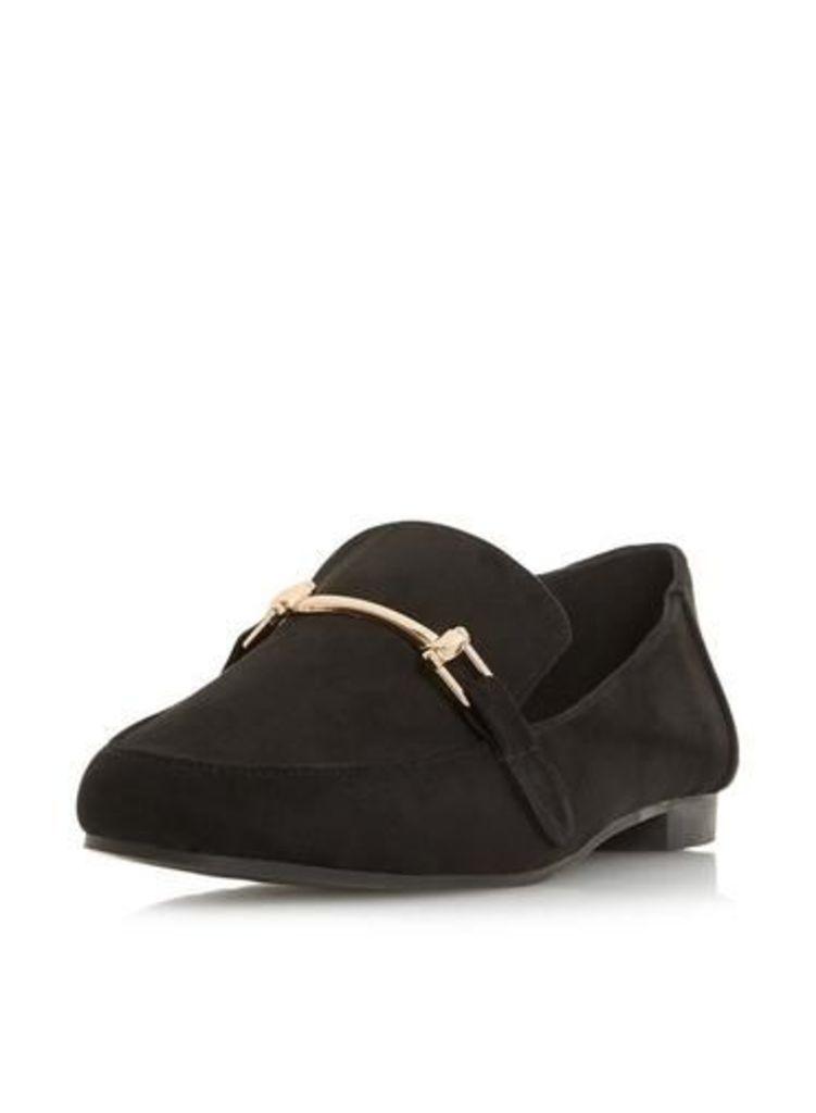 Womens *Head Over Heels by Dune Black 'Giesella' Flat Shoes- Black, Black