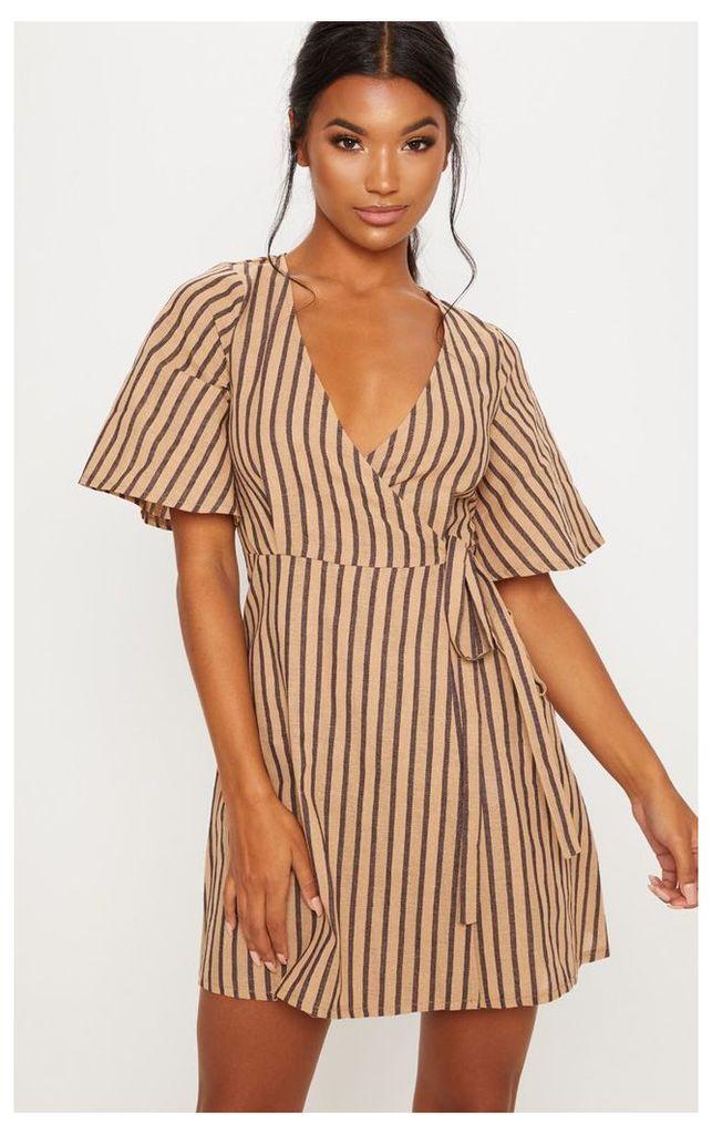 Stone Stripe Tea Dress, White