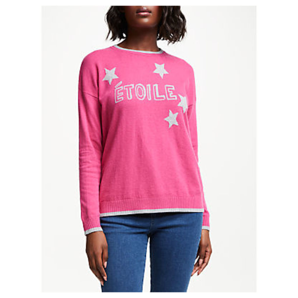 Collection WEEKEND by John Lewis Etoile Star Jumper, Pink/Grey