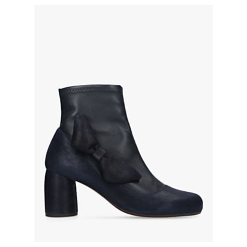 Chie Mihara Mos Bow Ankle Boots, Navy