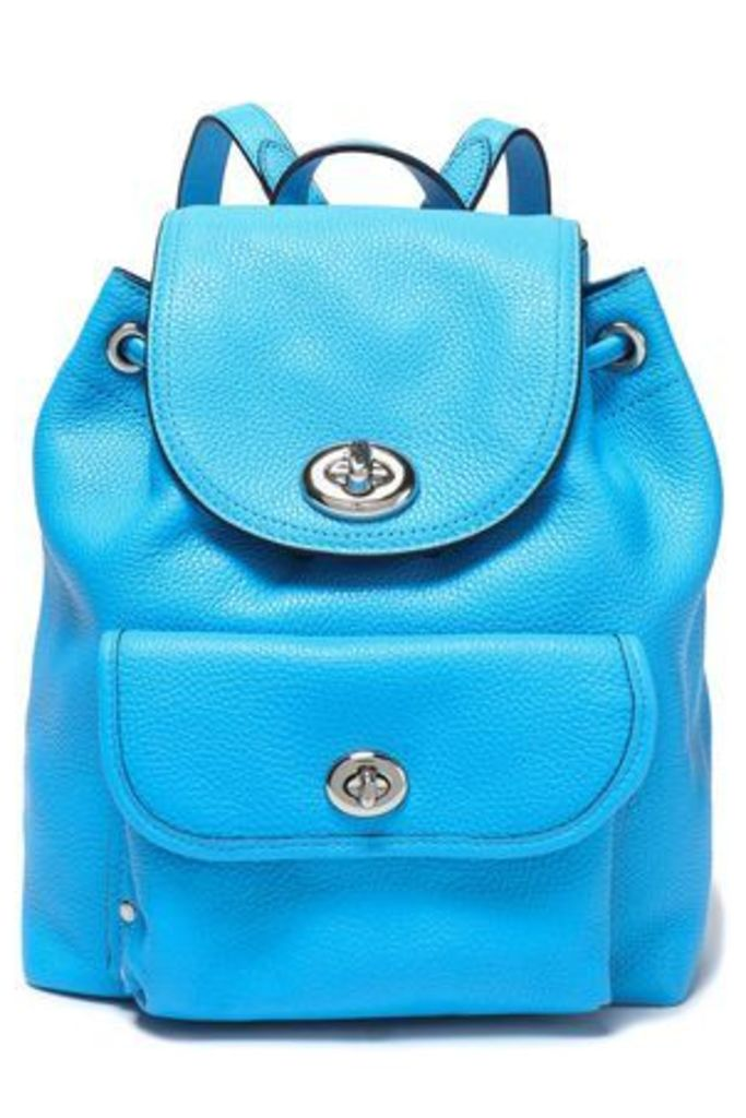 Coach Woman Textured-leather Backpack Azure Size -