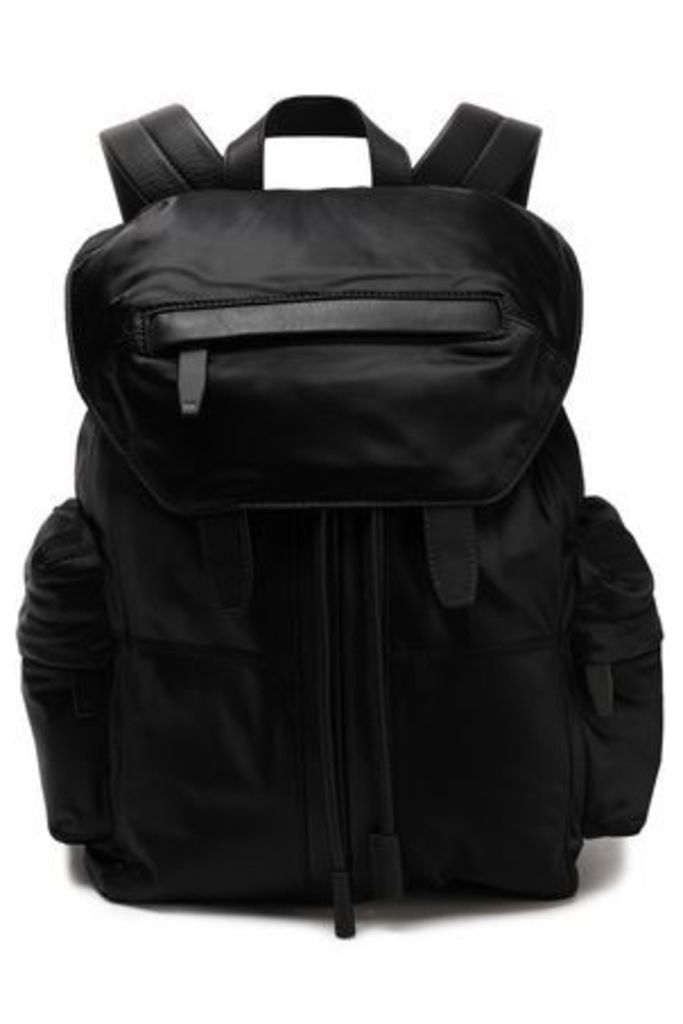 Alexander Wang Woman Leather-trimmed Satin-twill Backpack Black Size -