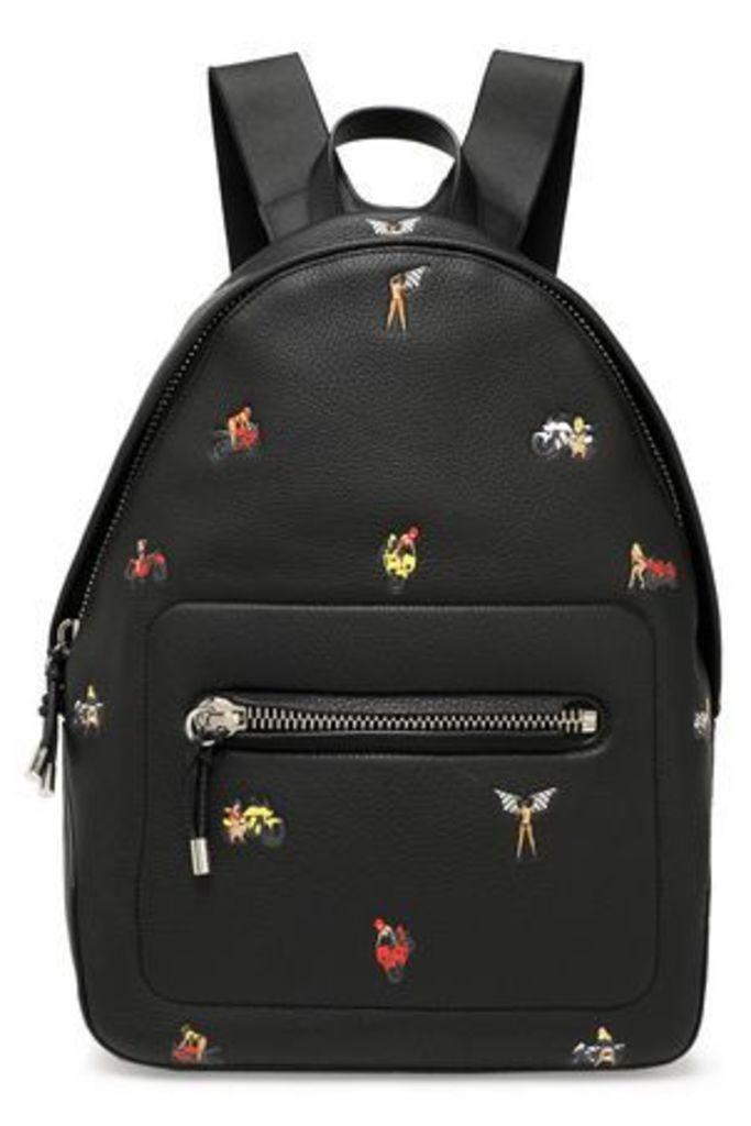 Alexander Wang Woman Berkeley Embossed Pebbled-leather Backpack Black Size -