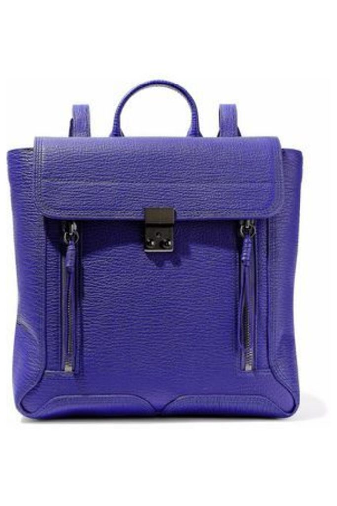 3.1 Phillip Lim Woman Pashli Textured-leather Backpack Purple Size -