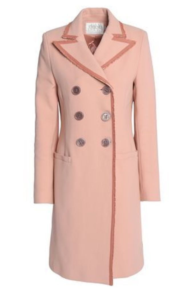 Goat Woman Double-breasted Cotton Jacket Blush Size 18