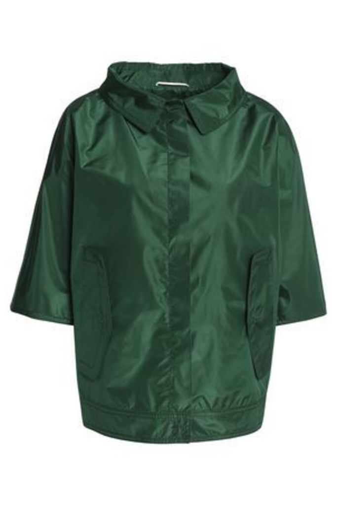 Rochas Woman Silk-shell Jacket Emerald Size 40