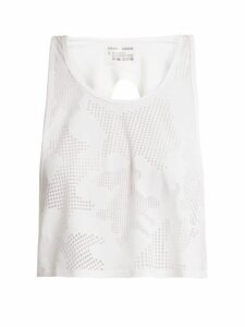 Charli Cohen - Lumen Perforated Front Jersey Cropped Top - Womens - White