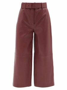 Thierry Colson - Biarritz Spugna High Waisted Shorts - Womens - Orange Stripe