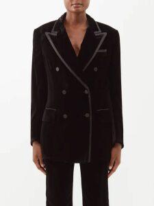 Athena Procopiou - Moonbeams Floral Embroidered Dress - Womens - Black White
