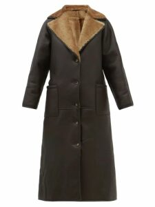 Talitha - Geometric Print Silk Crepe Maxi Dress - Womens - Green Print