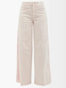 Figue - Milagro Polka-dot Silk-satin Shirt - Womens - Burgundy