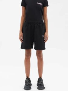 Palmer//harding - Tie-waist Striped Linen Top - Womens - Navy Stripe