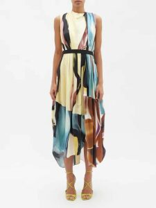 Thierry Colson - Mary Floral Print Silk Blouse - Womens - White Multi