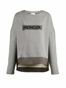 Moncler - Maglia Girocollo Cotton Sweatshirt - Womens - Grey