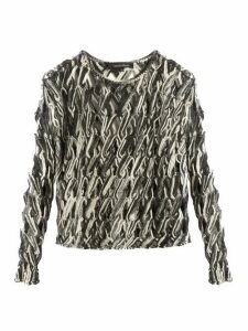 Tabula Rasa - Lela Hand-macramé Knit Top - Womens - Grey Multi