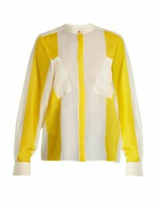 Maison Rabih Kayrouz - Etamine Striped Wool Shirt - Womens - Yellow Stripe