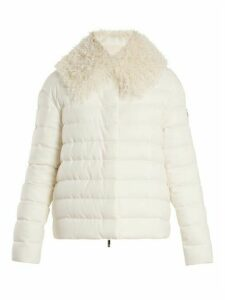 Moncler Gamme Rouge - Shearling-trimmed Quilted-down Cashmere Jacket - Womens - Cream