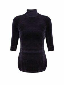 Vetements - X Juicy Couture Cotton Blend Velour Top - Womens - Navy