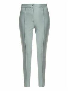 Joseph - Juno Stirrup-hem Cotton-blend Trousers - Womens - Light Blue