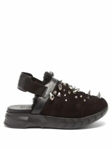 Edward Crutchley - Tie-waist Monkey-print Silk Dress - Womens - Blue Multi