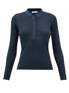 Roksanda - Nezu Gathered Detail Satin Blouse - Womens - Fuchsia