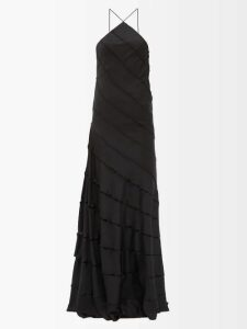 Vita Kin - Country Bird And Floral-embroidered Linen Top - Womens - Orange