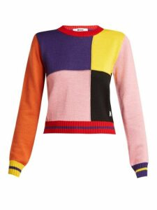 Msgm - Multicoloured Patchwork Sweater - Womens - Multi