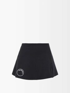 Apiece Apart - Ioona Striped Linen-blend Blouse - Womens - Purple Stripe