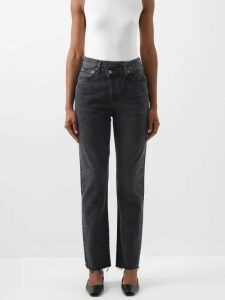 Apiece Apart - Ioona Striped Linen Blend Blouse - Womens - Purple Stripe