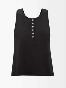 Chloé - Balloon-sleeve Satin Top - Womens - Dark Red