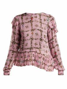 Preen Line - Bryoni Botanic-print Top - Womens - Pink Print