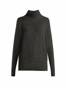 Nili Lotan - Anitra Ribbed Roll-neck Wool-blend Sweater - Womens - Grey