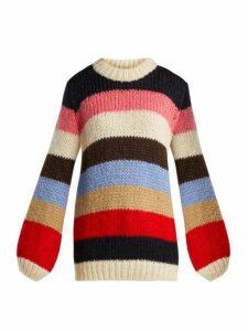 Ganni - Oversized Striped Sweater - Womens - Multi