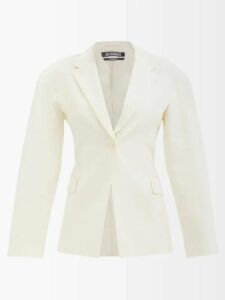 Aries - Tiger-print High-neck Satin Top - Womens - Black Multi