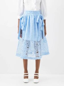 Raey - V Neck Fine Knit Cashmere Sweater - Womens - Navy