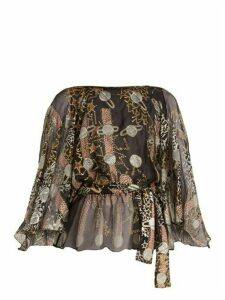 Zandra Rhodes - Archive Ii The 1977 Star Wars Blouse - Womens - Black Print