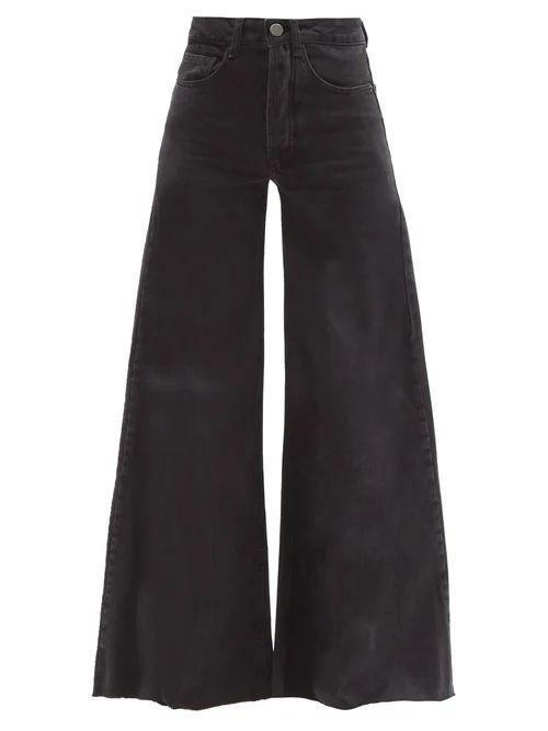 Raey - Loon Wide Leg Jeans - Womens - Black
