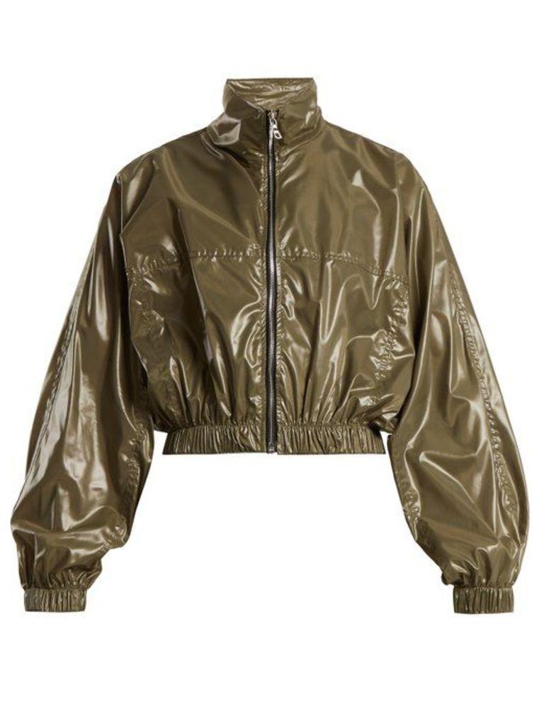 Edward Crutchley - Stand Collar Shell Cropped Jacket - Womens - Khaki