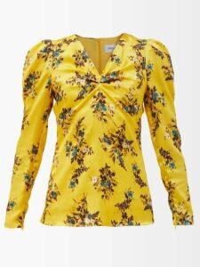 Haider Ackermann - Tie-neck Polka-dot Print Blouse - Womens - Blue White