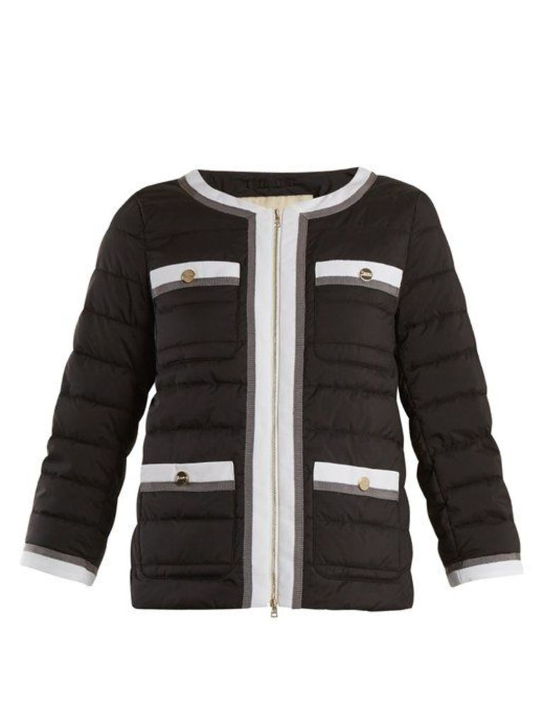 Herno - High Neck Quilted Jacket - Womens - Black Multi