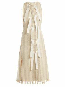 Altuzarra - Blanche Diamond-jacquard Dress - Womens - Ivory