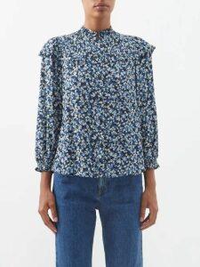 Tibi - Balloon Sleeve Wool Sweater - Womens - Pink