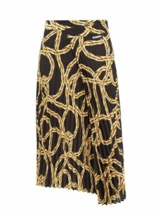 Joseph - Annam Wool Blend Trousers - Womens - Navy Multi